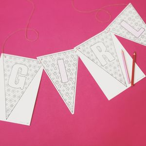 Colour In 'Baby' Alphabet Bunting Kit