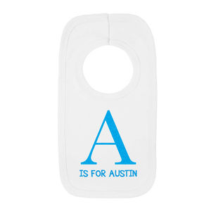 Personalised Letter Bib - baby care