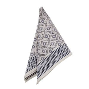 Grey And White Block Print Napkin - napkins