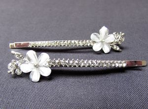 Pair Of Flower Hair Slides
