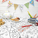Colour In Tablecloth Teatime Choice Of Two