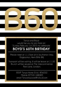 Birthday Inivtations 40th 50th 60th