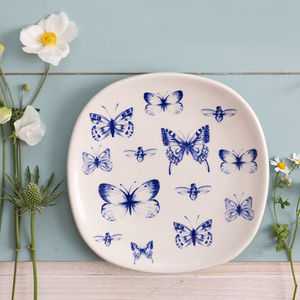 Butterfly Plate - crockery & chinaware