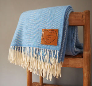 Throw Personalised With Your Handwritten Message - blankets & throws