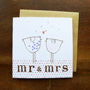 'Mr' And 'Mrs' Card