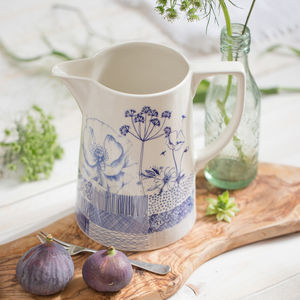 Wild Garden Sketches Pitcher Jug - wedding gifts