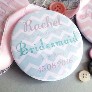 Thank You Bridesmaid Mint And Blush Mirror Gift - wedding favours