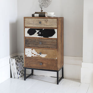 Montana Retro Style Five Drawer Chest - furniture