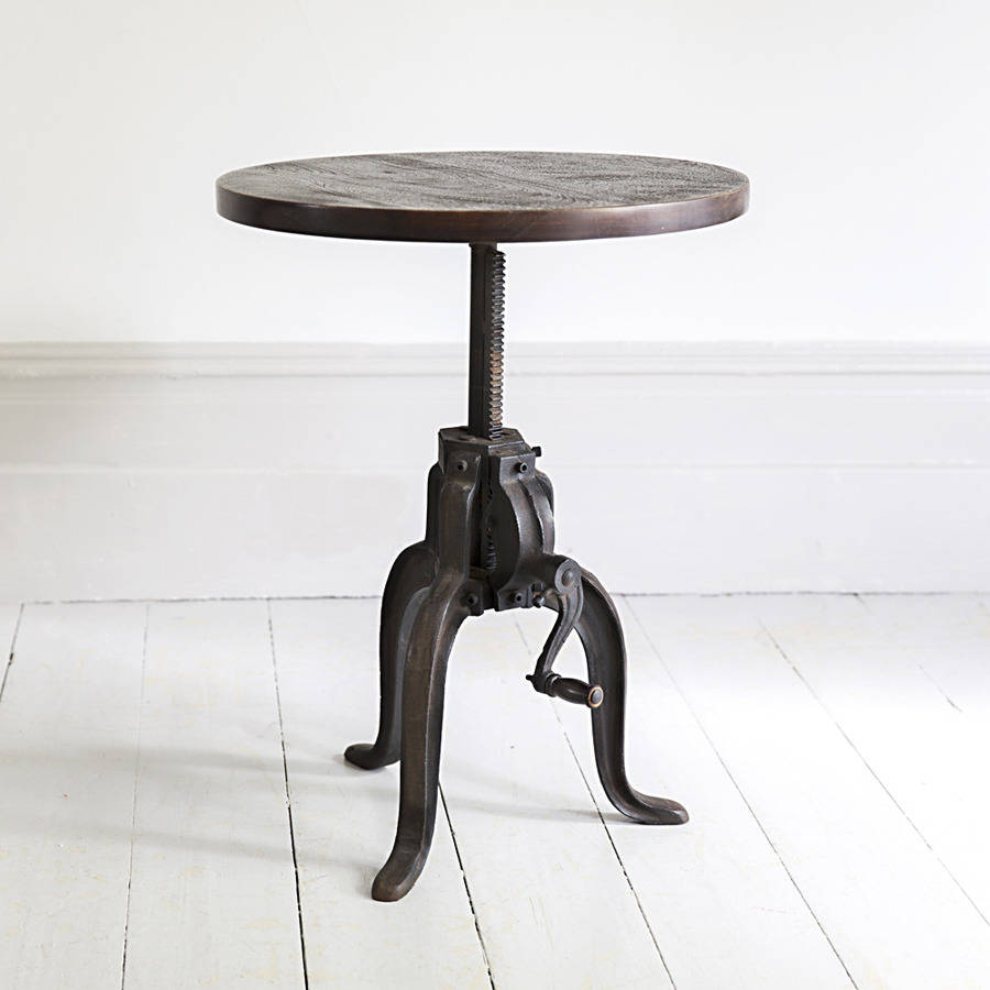 Industrial Crank Side Table By Atkin And Thyme