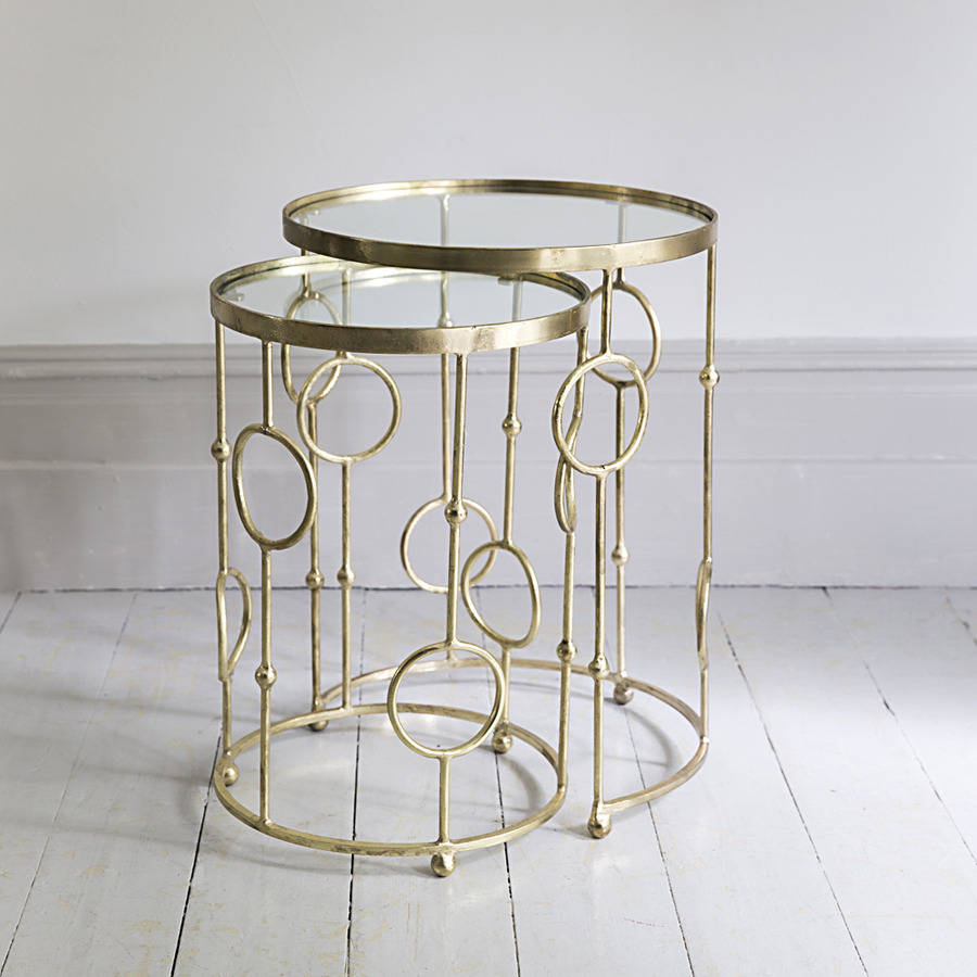 Glass Nesting Tables ~ Chiswick glass top nesting tables by atkin and thyme