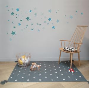Children's Rugs Cotton And Leather Stars