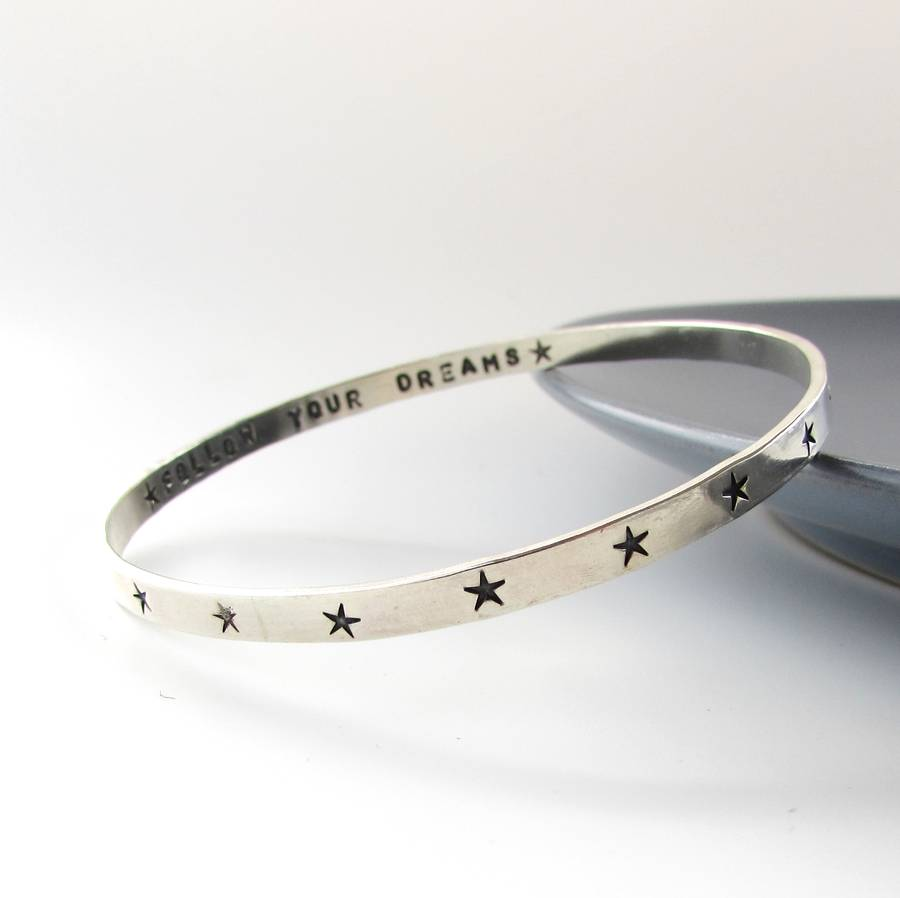 sterling silver star bangle by ali bali jewellery ...