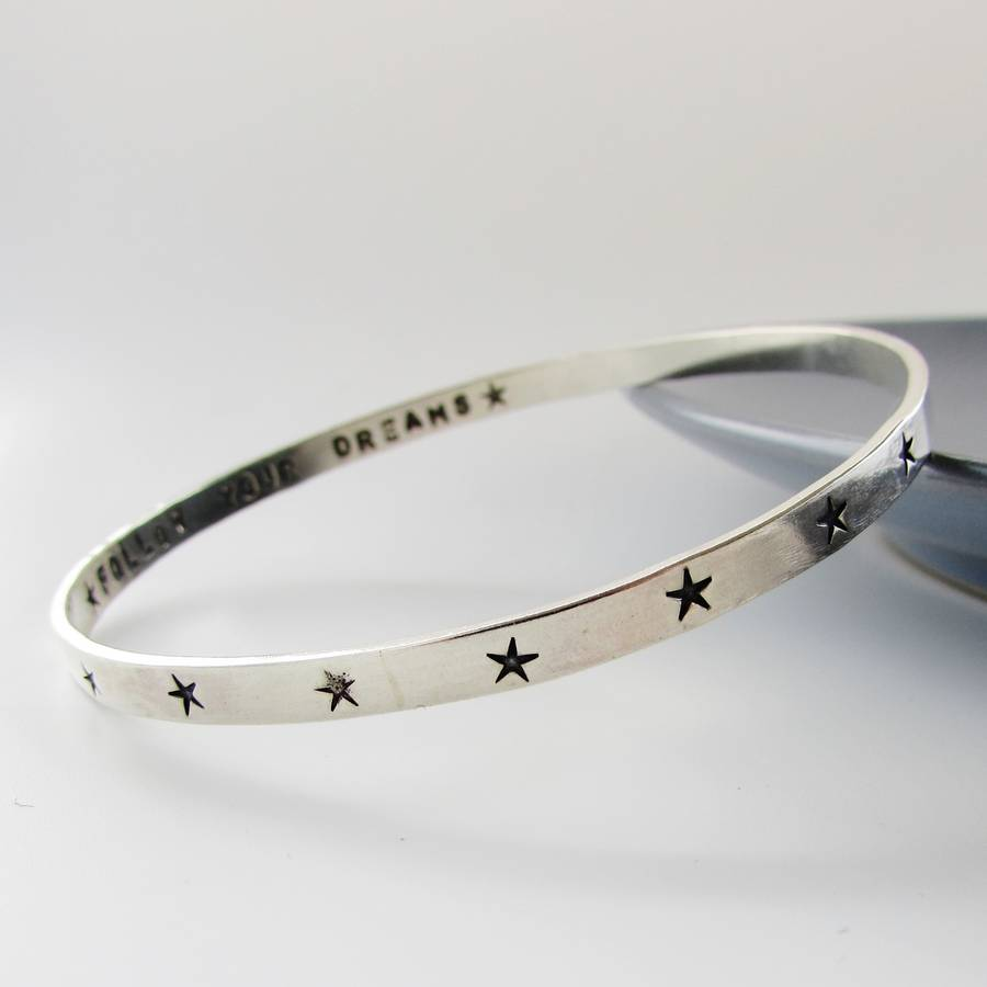 b9ee42cf14fcc Sterling Silver Star Bangle