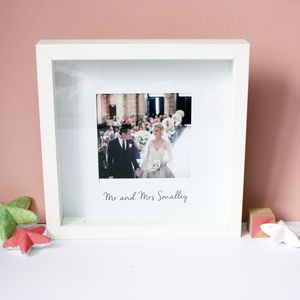 Personalised Wedding Box Print