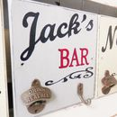 Personalised Bar Sign With Bottle Opener And Hook