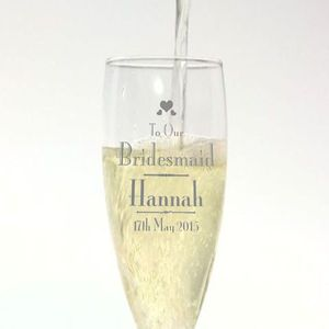 Champagne Flute Bridesmaid Gift