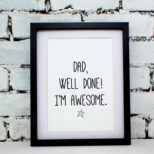 'Awesome Dad' Father's Day Print