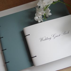 Engraved Leather Wedding Guest Book - albums & guestbooks