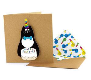 'Happy Birthday' Cat Personalised Card - birthday cards