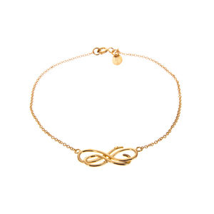 Gold Love Letter Scroll Bracelet