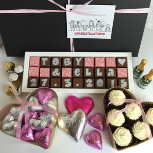 Large Personalised Chocolate Wedding Gift Box - cakes & treats