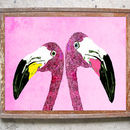 The Loved Up Flamingos Limited Edition Signed Print