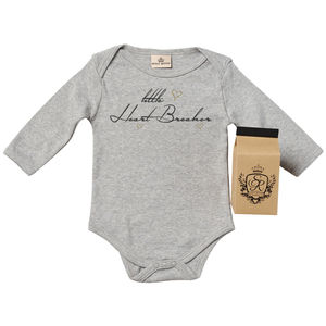 'Little Heart Breaker' Babygrow In Gift Carton - babygrows