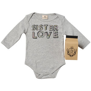 'Sister Love' Babygrow In Gift Carton