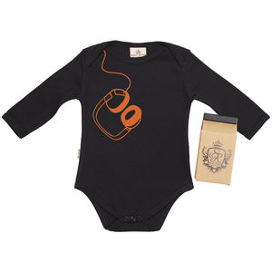 Hanging Headphones Babygrow In Gift Carton - babygrows