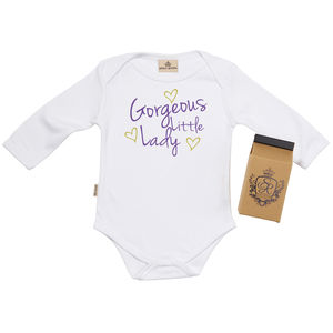 'Little Lady' Babygrow In Gift Carton - babygrows