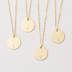 Personalised Long Disc Necklace - gifts for her