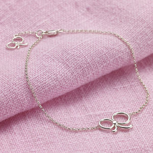 Sterling Silver Bow Bracelet - bracelets & bangles