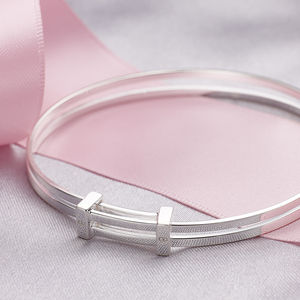Ladies Sterling Silver Expandable Bangle