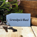 'Grandpa's Shed' Wooden Key Ring