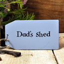 'Dad's Shed' Wooden Key Ring