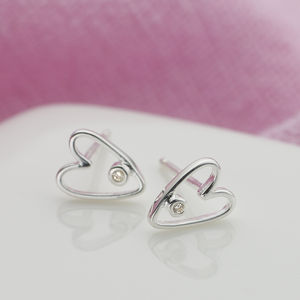 My First Diamond Silver Earrings - jewellery gifts for children