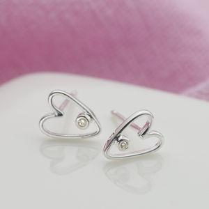 My First Diamond Silver Earrings