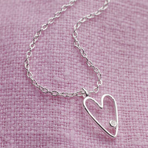 My First Diamond Silver Necklace - children's jewellery