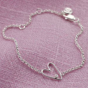 'My First' Diamond Silver Bracelet - jewellery gifts for children