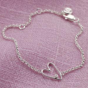 'My First' Diamond Silver Bracelet