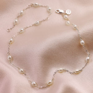 Pearl Station Sterling Silver Necklace - children's accessories