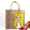 Personalised Bridesmaid Dollybelles Tote Bag