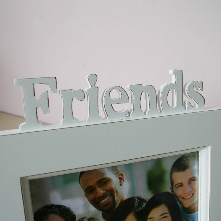 personalised friends photo frame in white
