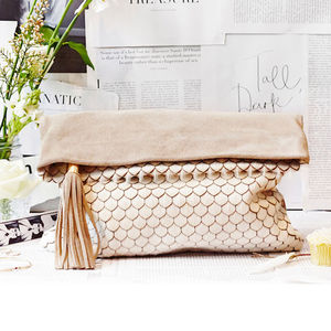 Rochas Shell Burn Oversized Clutch Bag - gifts for her