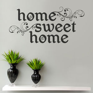 Home Sweet Home Wall Sticker - new home gifts
