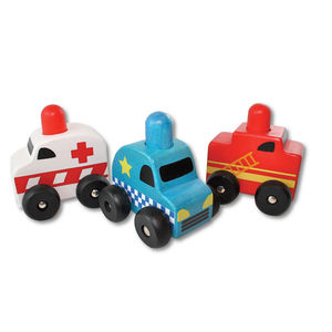 Set Of Three Squeaker Cars - toys & games