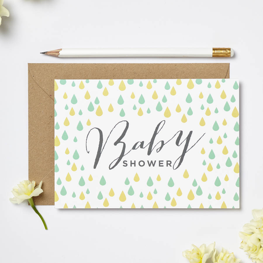 Baby Shower Greeting Cards ~ Baby shower card by intwine design notonthehighstreet
