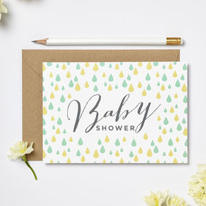 Baby Shower Greeting Card - baby shower gifts