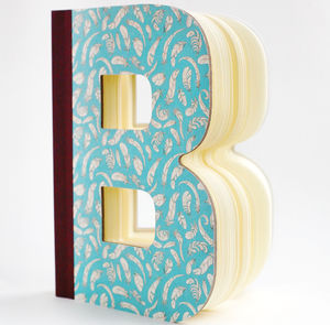 Letter Shaped Books - guest books