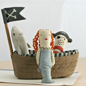Maileg Embroidered Pirate Rattle